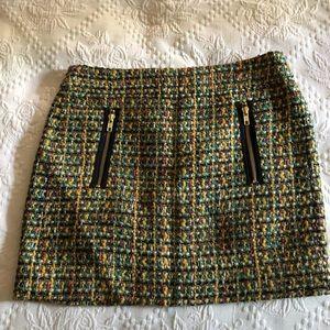 J crew Tweed mini skirt like new